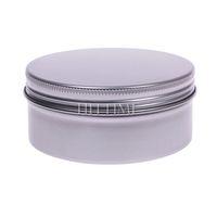 150ML 5pcs Round Aluminium Empty Cosmetic Nail Art Cream Lip Balm Lip Gloss Containers Bottles #52643