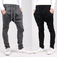 Free Ship 2014 New Hot Sales Mens Korean Unique Design Harem Pants Fashion Slim Fit Sport Trousers Casual Sweatpants