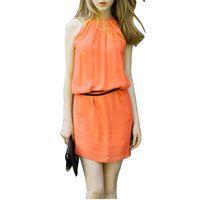 2015 New Fashion Spring/Summer Runway Neck Sleeveless Dress tunic Dress With Belt Free Shipping FE2605#S5