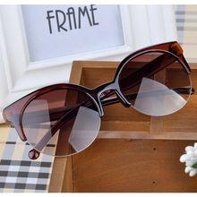 2015 Men Women Retro Cat Eye Semi Rim Round Sunglasses Stylish Eyewear Eyeglasses FMPJ093 M1