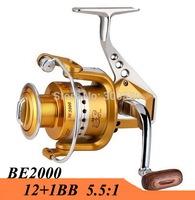 2015 New Metal Spinning Fishing Reel 2000 Series 12+1BB Fish Wheel Saltwater Carretilha Pesca For Shimano Fishing Free Shipping