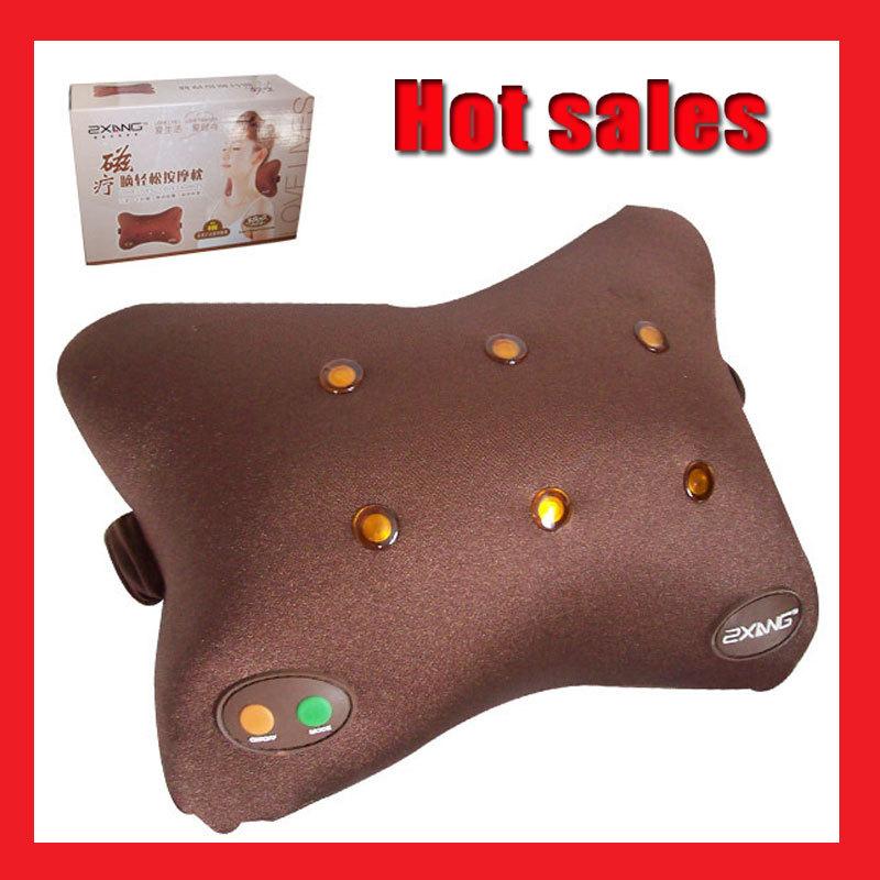 2015 nova massagem magnet magnetic forma tom de elétrico descanso Nap Traction massagem Pillow Relief dor lombar massageador(China (Mainland))