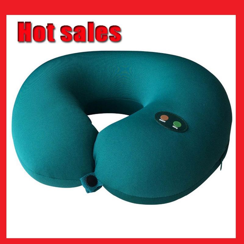 2015 NEW Neck Massager U elétrica travesseiro tração massagem U forma Pillow Relief Neck voltar ombro dor massageador grátis frete(China (Mainland))