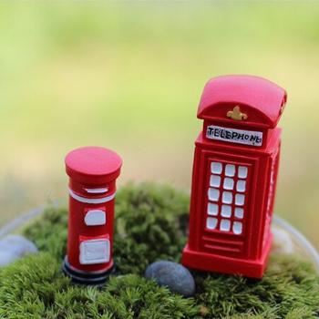 2 дизайн телефон стенд и сообщения миниатюры волшебный сад гном мосс террариум домашнего декора ремесла бонсай домашнего декора для DIY