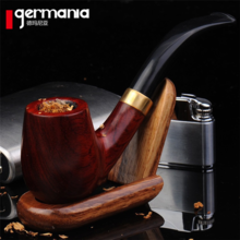 Hot sale Genuine pipe tobacco shred hopper Imported red sandalwood bending type smoke incidental smoking pipe set  Free shipping