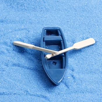 Продажа 1 шт. прекрасный мини синий лодки 3 - 8 см волшебный сад миниатюры гном мосс террариум домашнего декора ремесла бонсай домашнего декора для DIY