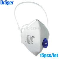15 Pcs/lot drager original disposable masks particulate respirator anti-fog/haze/PM2.5 mask headband 1750V free ship ZSY012910