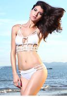 2015 Bikini Set New Swimsuit Lady Bathing suit Sexy Caged Design Bikini Swimsuit LC40985 Top Swimwear Beachwear Bathsuit