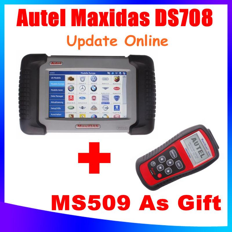 [AUTEL Distributor] FreeShip 2015 Newly 100% Original Autel Maxidas DS708 Update Online Auto Diagnostic Scanner 3 Years Warranty(China (Mainland))