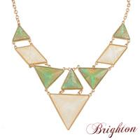 4 colour fashion jewelry gold plated imitation gemstones  triangle pendant women statement choker necklace