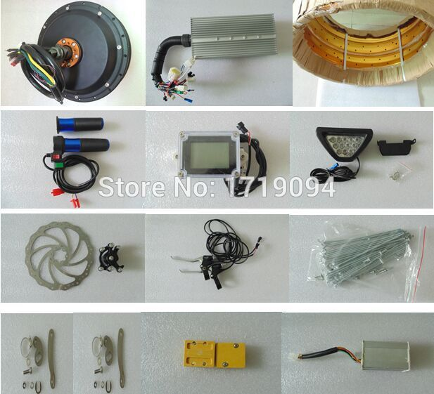 3000w motor kit 3000w electric bicycle conversion kit 60V 3000W for fat bike DIY(China (Mainland))