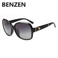 2015 Women Sunglasses Polarized Elegant Oversized Female Sun Glasses  Black Oculos De Sol Feminino  Gafas De Sol With Case 6060