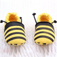 HQ Lovely Infants Baby Soft Cotton Animal Bees Ladybird Design Prewalk Shoes 0-12M