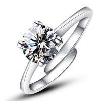 925 Sterling Silver Genuine high-grade ring for women ring fine jewelry Can adjust the ring J119