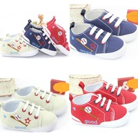 HQ Nice Lovely Kids Baby Boy Girl Cotton Casual Soft Sole Crib Shoes Sneakers 11-13