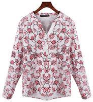 Fashion Women Tops Blouse New Rose Floral Print Blusas Femininas Summer Spring Women Blouses Polyester Cotton Ladies Shirt WSH26