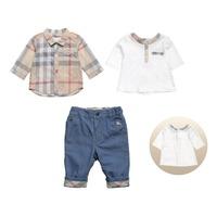 2015 summer spring children 3pcs suit baby boys cotton t shirt+shirt+pants clothing sets brand clothes kids clothing set 204