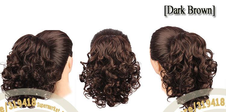 Моя любовь красоты _ новинка Scrunchies длинные вьющиеся невесты парики большой полный мода шиньон синтетические волосы булочка легкая установка