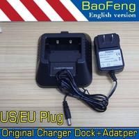 Original Baofeng 5R Charger Dock Power Adapter for BaoFeng UV5R, UV-5RA, UV-5RE 100-240V EU US plug