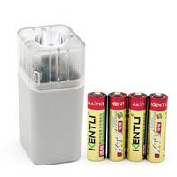 4pcs  KENTLI 1.5v AA PM5 2400mWh Rechargeable Li-ion Li-polymer Lithium battery + 4 slots USB smart AA AAA Flashlight Charger
