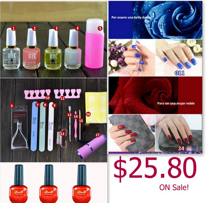New Pro esmaltes french manicure gel nails unhas de gel,Set Of gel nails uv builder professional,led uv lamp nails new(China (Mainland))
