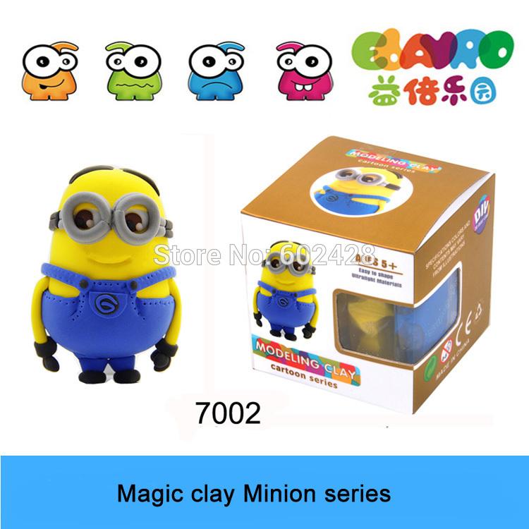 2015 New Product Minion Plasticine 3D Colorful magic clay No.7002 Yellow(China (Mainland))