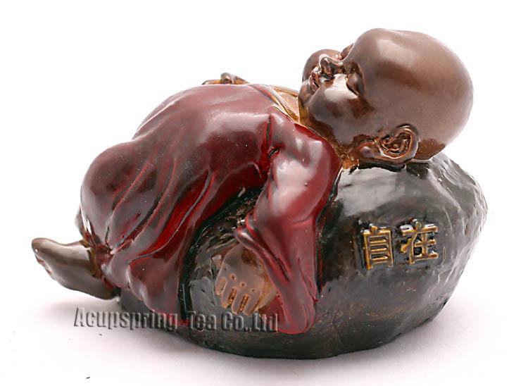 Allochroic Mascot, Cute little monk, Freedom Buddhist monk, tea pet, newness Ornament, Amazing Gifts,fengshui,S1171C(China (Mainland))