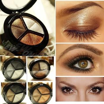 Смоки косметическая комплект 3 цвета профессиональный природный матовый тени для ...