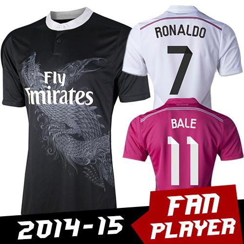 Real Madrid Jerseys Top Thai Quality Cristiano Ronaldo Camiseta Real Madrid 2015 Camisetas De Futbol Survetement Football Jersey(China (Mainland))