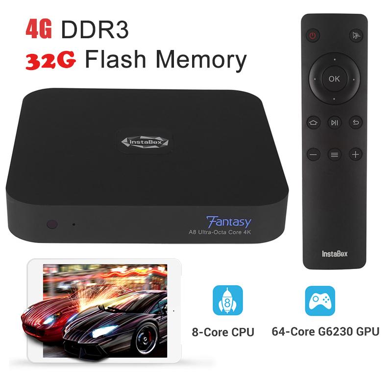 Instabox XBMC KODI A8 4K Smart TV Box Allwinner A80 Octa Core Cortex-A15 4G RAM 8 Core CPU 32G ROM HD android tv box quad core(China (Mainland))
