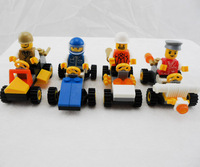 4pcs/Lot Amazing COMBI Design Vehicles Car Building Blocks Minifigures Educational Building Blocks for Kids Plastic Toys
