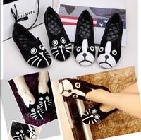 WOMEN Free shipping dog cat flats, sapatilhas women's flat shoes alpargatas loafers casual cartoon suede flats shoes
