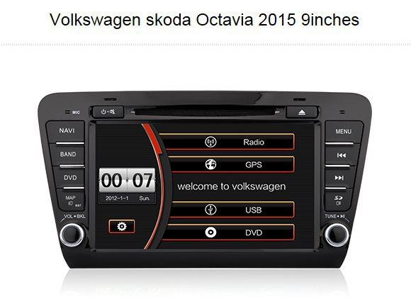 "For SKODA Octavia 2015 Car GPS Navigation / 9"" TFT LCD Touch Screen, Radio, TV, CD DVD Player, Steering Wheel Control, etc(China (Mainland))"