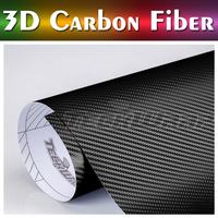 German Duty Free Teckwrap 2014 new product 5*65ft air release carbon fiber good stretch 3d carbon fiber vinyl Black