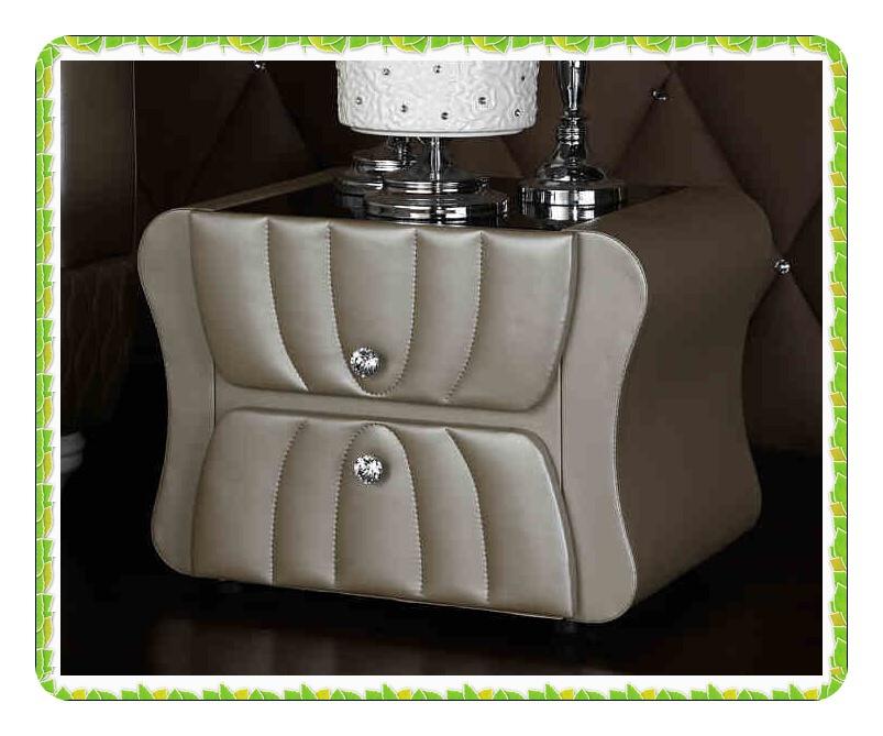 Europe style Khaki leather bedside table hot selling(China (Mainland))