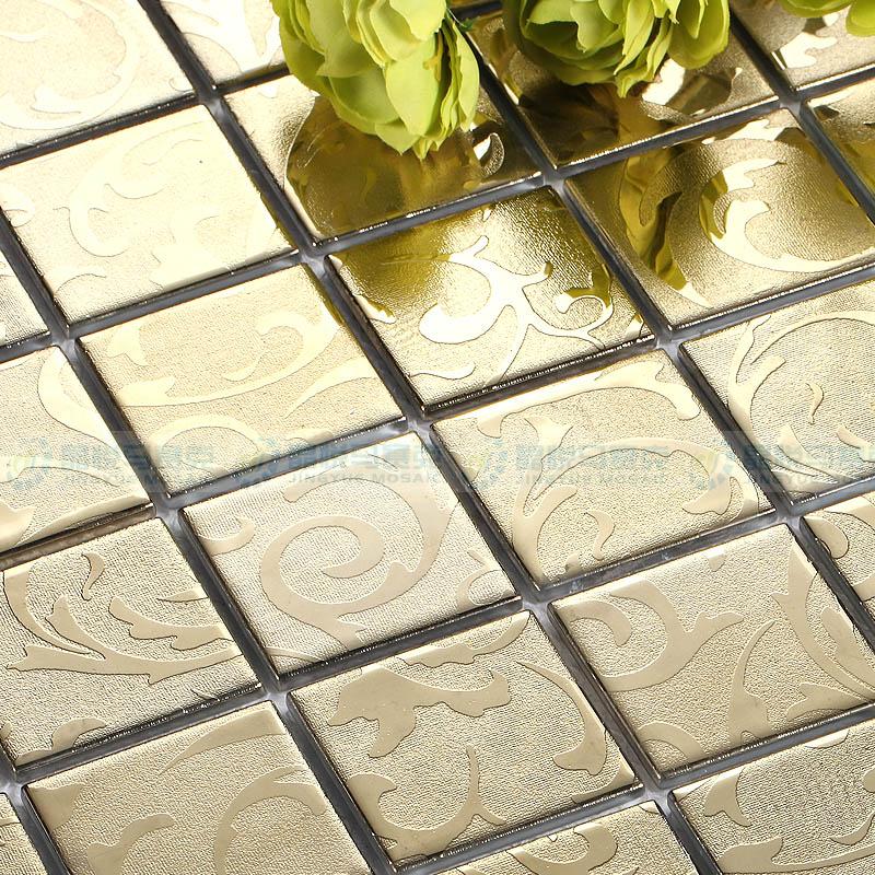 Witte Gyproc Badkamer ~ metalen gouden coating bloemen back splash tegels keuken badkamer