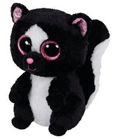 New 2015 TY Beanie Boos Flora the Skunk Plush Animals 6'' 15cm Ty Big Eyes Stuffed Animal Cute Soft Toys for Children Kids Gift