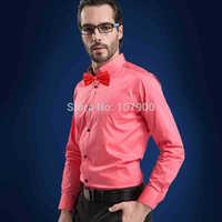 Brand New 100% Cotton Solid Men's Dress Shirt Wedding Shirts Long Sleeve Business Formal Shirt Plus Size Male Social camisa