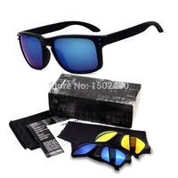 New 2015 Women Coating Sunglasses O Brand Designer Oakl Men Vintage Oculos Gafas de sol Holbrook Retro Sport Cycling Sun Glasses