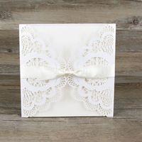 50pcs/lot лазер цветок вырезать Свадебные приглашения с конверт элегантный пион Свадебные приглашения diy персонализированные карты