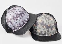 Wholesale 2015 Summer Camo Mesh Flexfit Hat Mens Camouflage Flat Bill Snap Back Hats Women Brim SnapBack Caps In Bulk 10pcs/Lot