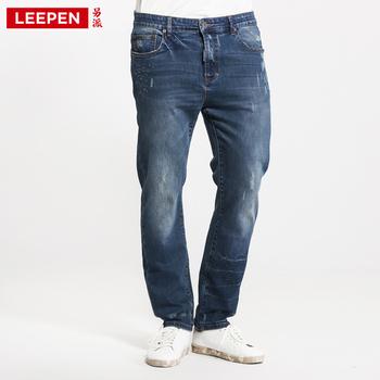 Leepen джинсы LP4009-Elastic джинсы. тонкий прямой стиль. весна новое поступление. мода царапины джинсы. размер 30-52