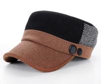 Wholesale Fahsion Men Felt Cadet Style Hat Block Color W/Button Women Winter Flex Fit Military Caps Best Flexfit Army Hats Bulk