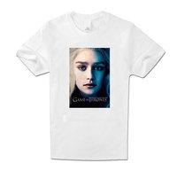 Women Clothing Tops Tees T-Shirts Colors Game of Thrones Daenerys T Shirt White Women Cotton short Sleeve White XXL Top T Shirt