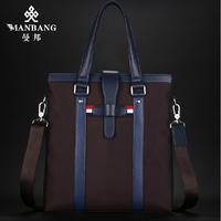 Man Luxury Canvas men bags High quality men shoulder bag Brand Casual Designer Briefcase MBJ00393 free shipping