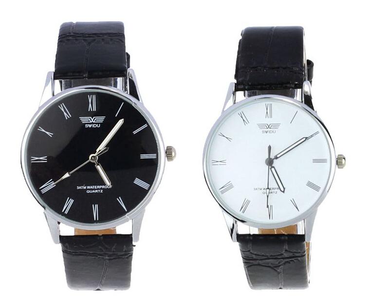 Vosicar Fashion Classic Men's Roman Number Quartz Electronic Leather Wrist Watch 2015 Hot Sale(China (Mainland))
