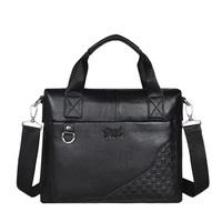 Russian Freeshipping Men Business Genuine Leather Shoulder Messenger Bags Laptop NoteBook Handbag