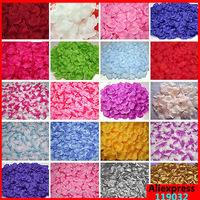 100pcs Artificial Silk Rose Petals Flowers Petal as Wedding Supplies Favor Party Decoration Carpet Weddings 37 Colors