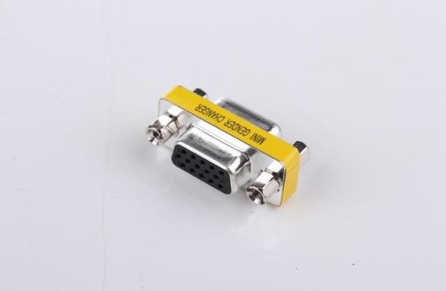 15 pins VGA HD Svga Vga Female to Female F-F Gender Changer PC Adapter for HDTV's, Projectors, VGA Splitters,(China (Mainland))