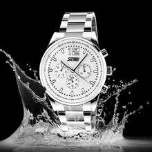 Skmei men full steel watch Quartz Business sports Casual Fashion brand calendar relogio military watch atmos clock men jewelry